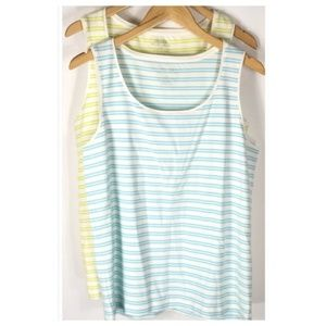 Chico's Tivona Striped Tank Tops NWT